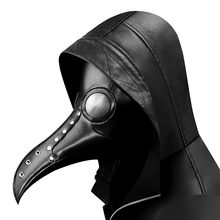 Gear Duke Halloween Gothic Black PU Beak Mask Steampunk Plague Doctor Retro Cool Bird Mouth Mask Masquerade Party Cosplay Props(China)