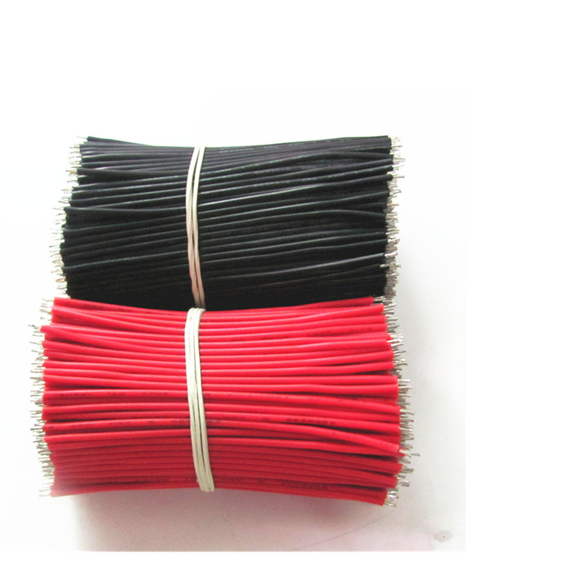 Купить с кэшбэком 30pcs AWG silicone cord 18650 special red wire for electronic wire cable electronic accessories material double tin 0.8 * 100 mm
