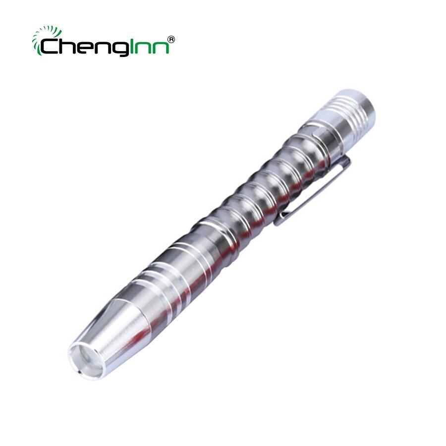 Mini Waterproof Portable LED Flashlight Pocket Hand Torch Pen Light Outdoor Lantern Lamp 2* AAA Battery flash torches On Sale