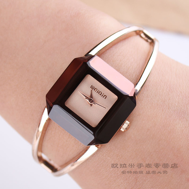 The 2013 Weiqin square watch~crystal bangle bracelet ~table fashion table women's watch