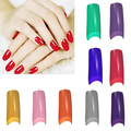 New Trendy 100Pcs French Half False Fake Acrylic Artificial Nail Art Tips Manicures Tool