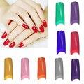 Nova Moda 100 Pcs Francês Meio Falso Falso Acrílico Nail Art Artificial Dicas Manicure Ferramenta