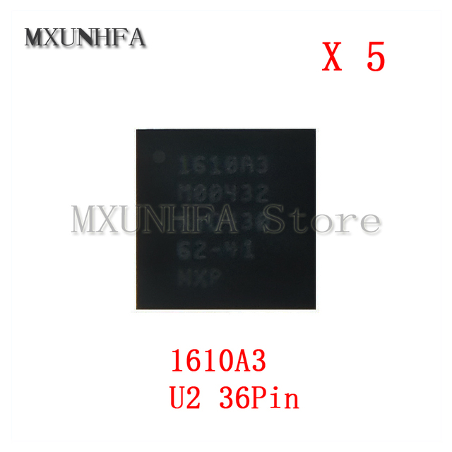 5pcs 1610A3 U2 Charging iC for iPhone 6S & 6S Plus 6 6G SE Charger ic Chip 36Pin on Board Ball U4500 Parts