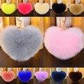 Fashion Women Lovely Charm Heart Shaped PomPom Faux Rabbit Fur Keychain Key Ring Handbag Car Accessory