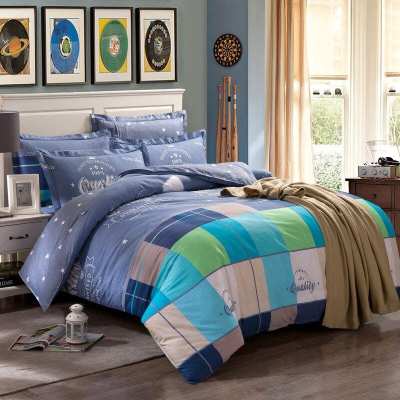 Stripes Plaid Printed Duvet Cover Set Kids /Adult King Queen Full Size Quilt Cover Bedclothes Fundas Nordicas Housse De Couette