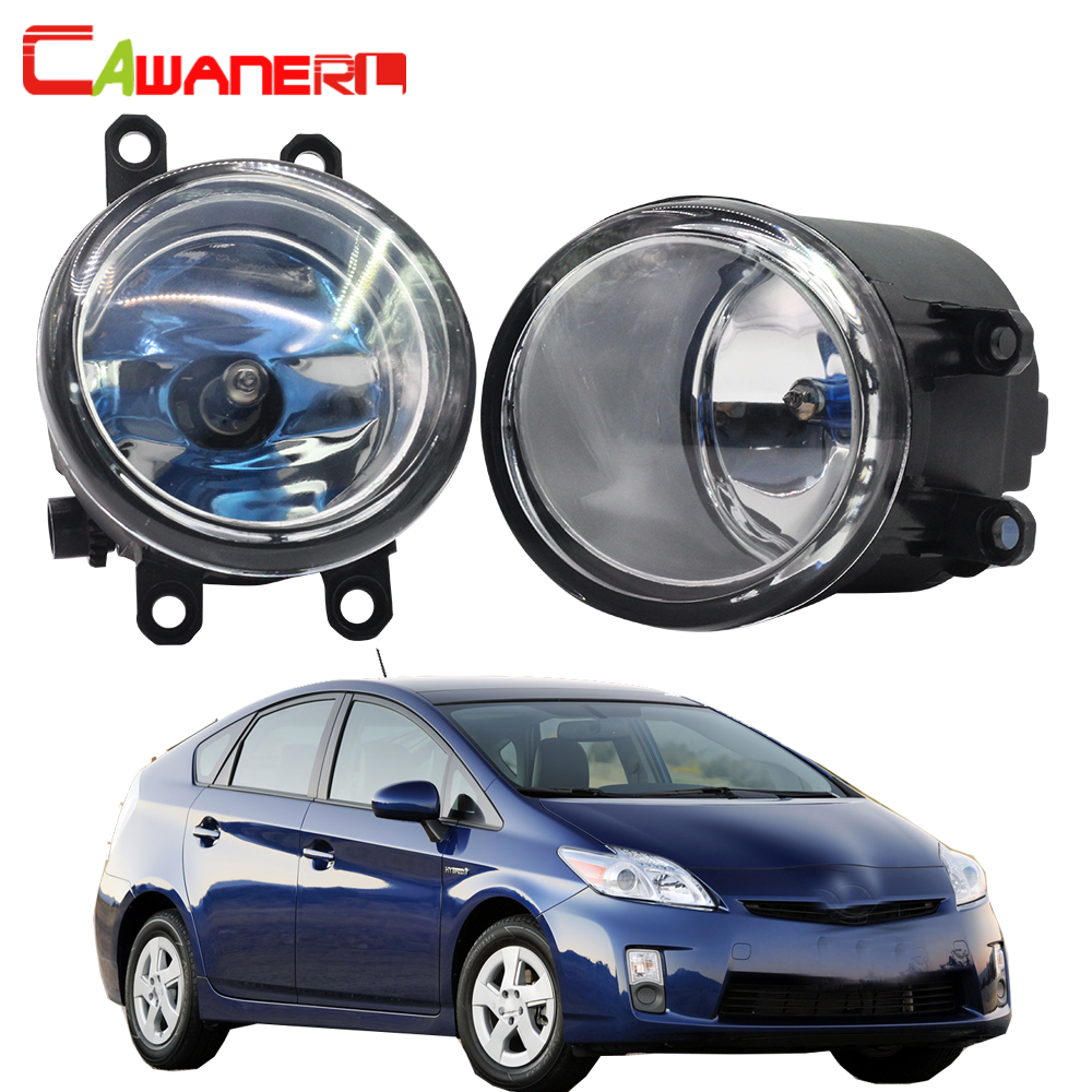 Cawanerl 2 X 100W Car Halogen Bulb Fog Light Daytime Running Lamp DRL High Power 12V Warm White For 2010-2012 Toyota Prius 9005 hb3 55w halogen bulb super white headlight fog car lamp daytime running drl auto head light 5000k 12v