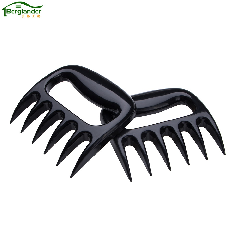BERGLANDER 1 Pair Grizzly Claws Meat Handler Fork Tongs Pull Shred Pork BBQ Barbecue Tool Bear Paws Claws Forks BBQ Accessories