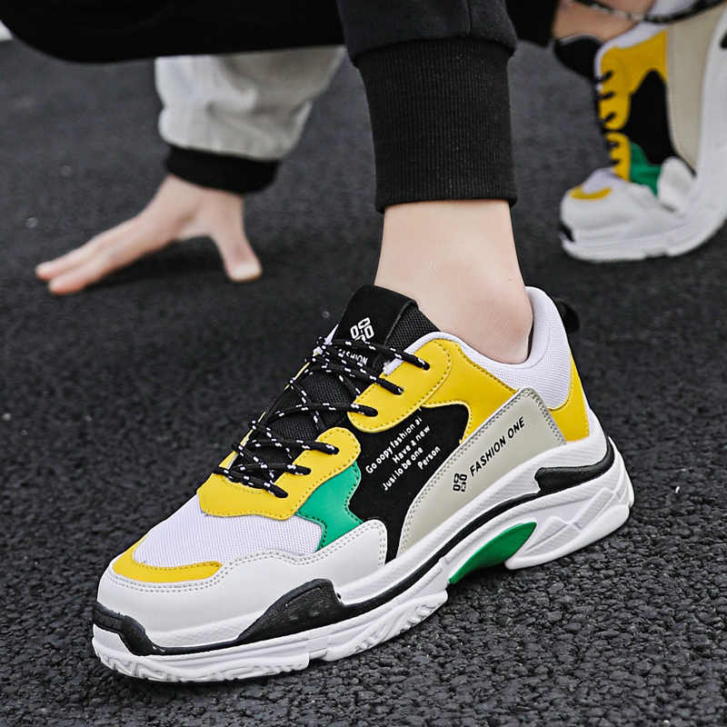 2019 New Mens sneaker colorful gym shoes Thick Bottom Platform Panda Triple S male light super running masculino size 39-44