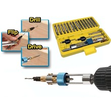 20Pcs/Set Multifunction Half Time Drill Driver Swivel Head Quick-Change From Drilling to Driving Repair Tool Kits