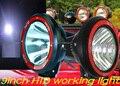 "Free ship!9"" 35/55/75/100W 12V/24V HID working light with protector,1pcs/order,3option light:Spot/Screw/Spread,SUV ATV UTV TRUCK"