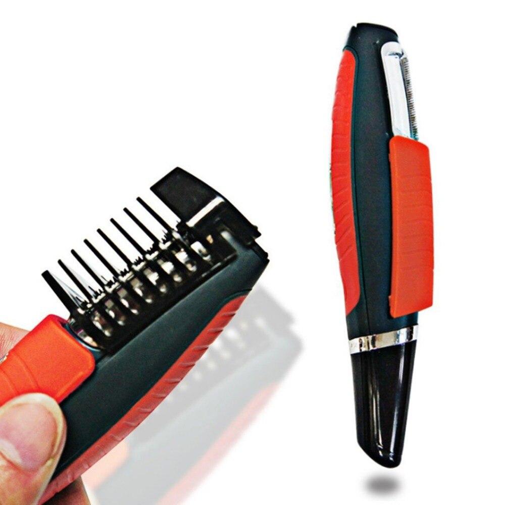 Pria Switchblade Alat Cukur Grooming Remover Pemangkas Rambut 2 In 1 Kumis  Jenggot Alis Pemangkas Rambut 96af08929c