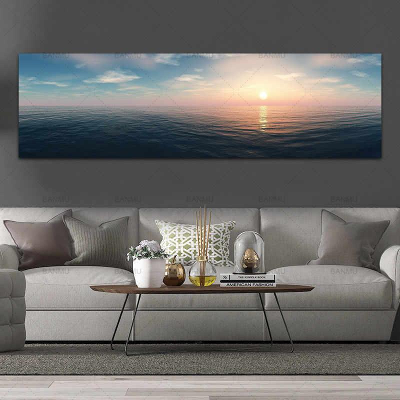 โปสเตอร์ภาพวาดผ้าใบชนบทภูมิทัศน์ศิลปะพิมพ์ sunreise ภาพวาดบนผนังตกแต่งสำหรับห้องนั่งเล่น