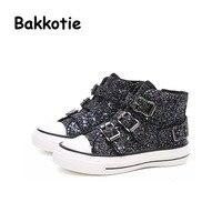 Bakkotie 2017 Autumn Fashion Baby Boy Casual Sport Shoe Glitter Toddler Girl Trainer Bling Kid Brand