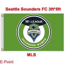 1 piece 144cm*96cm size MLS Seattle Sounders FC Flying flag B