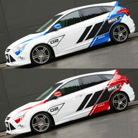 Custom Racing Stickers Vinyl Racing Stripes Car Body Decoration Racing Decal Suit For Ford Focus Mustang