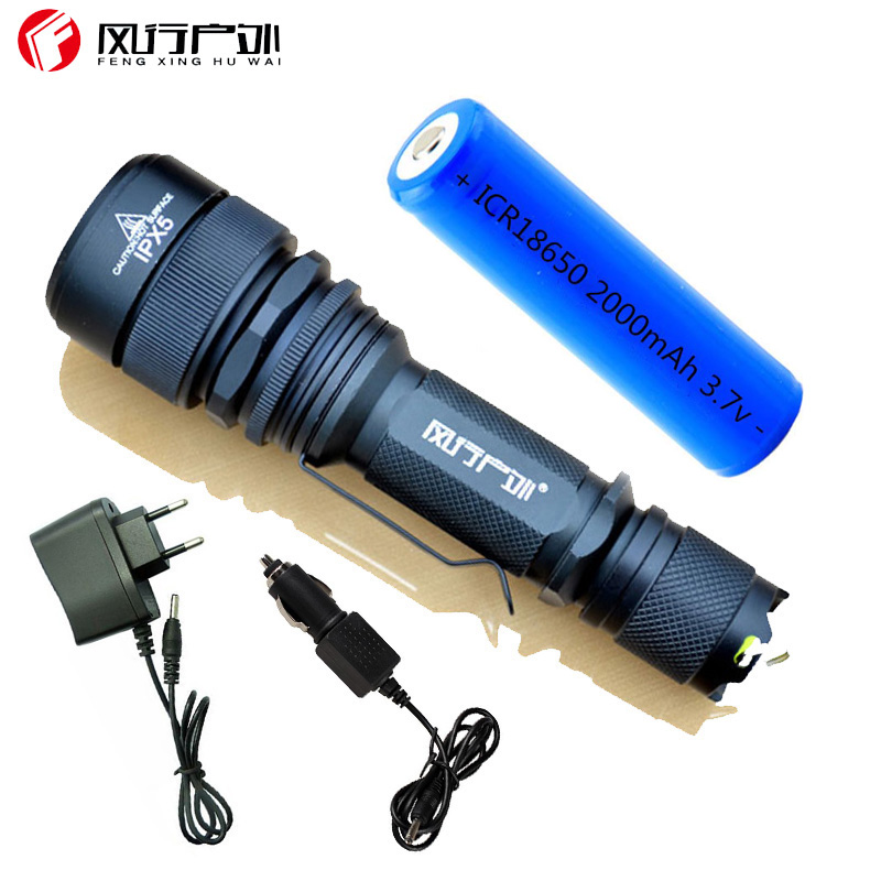 LED Flashlight torch 2500 Lumens CREE XML T6 5 mode zoomable rechargeable long-range tactical flashlight led for hunting light new rechargeable 600 lumens led flashlight torch cree xml u2 portable flash light free shipping