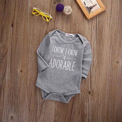 Осеннее боди с надписью для новорожденных мальчиков и девочек, хлопковый серый комбинезон с длинными рукавами, одежда