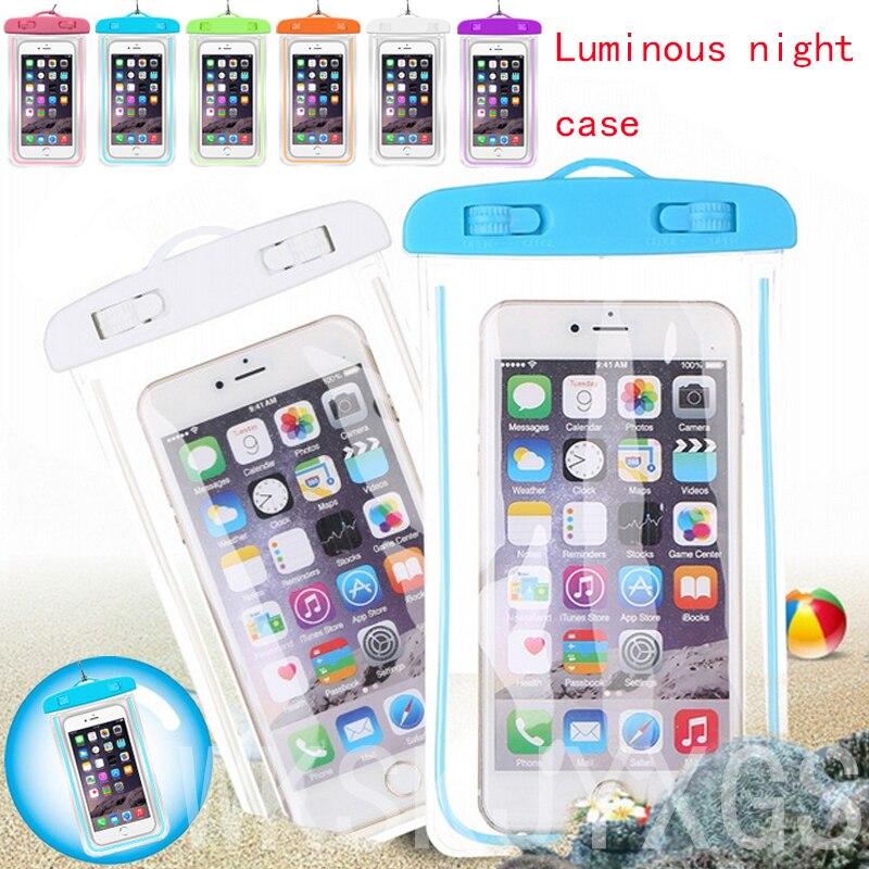 Waterproof Bag Case Pouch Luminous Phone cases For Xiaomi M5 M6 Mi 5s/Mi 4 LTE/Mi Note Pro Plus/Redmi 4X 4a 3X Note 4 4X Cover