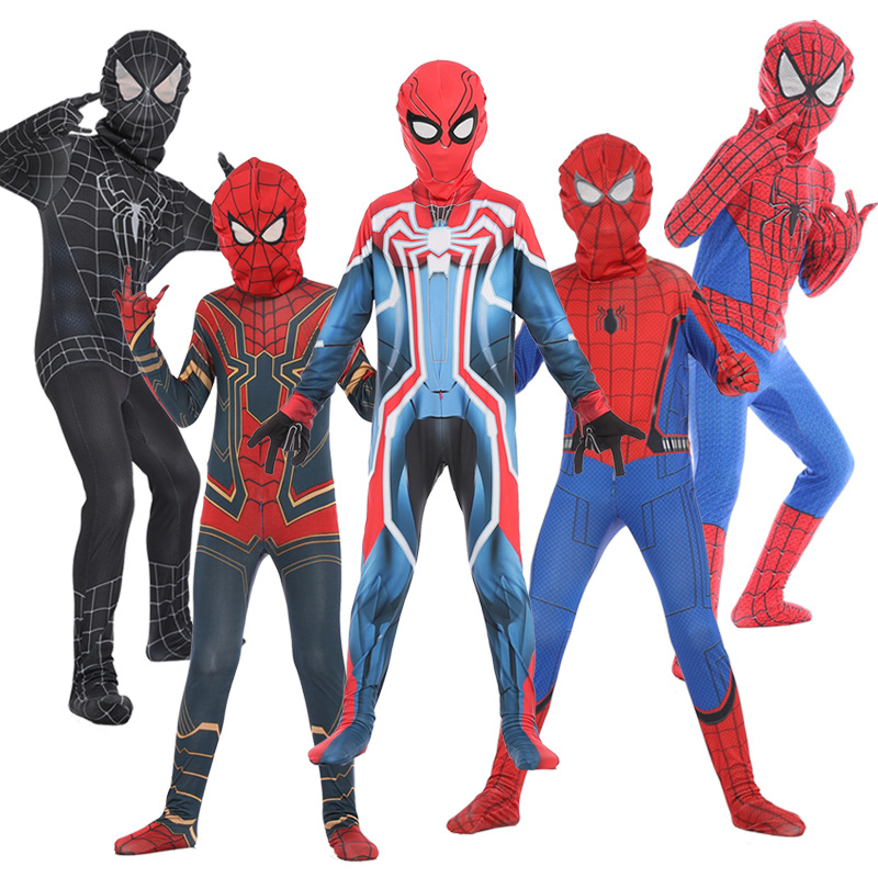 The Amazing Spider-man cosplay SpiderMan Zentai Lycra Suit kids Bodysuit Fancy Dress Halloween Jumpsuits Party costumes