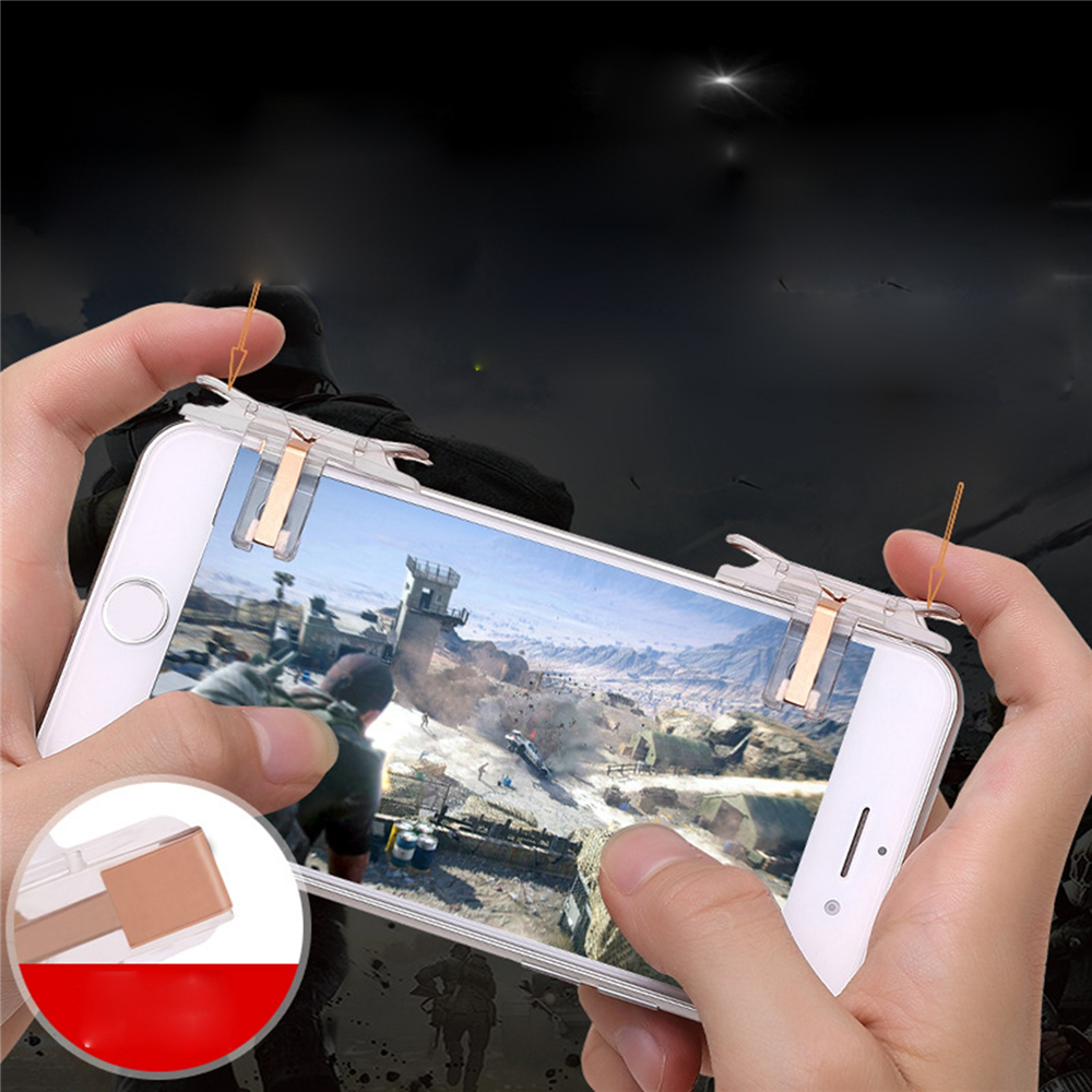 1Pair T10 Gaming Trigger for PUBG Fire Button Aim Key for Rules of Survival Smart Phone Mobile Game Shooter Controller