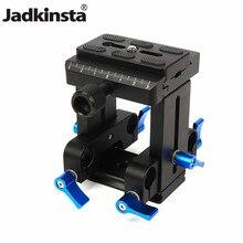 Jadkinsta câmera universal placa de liberação rápida PU 60 15mm haste rig sistema ferroviário braçadeira com 1/4 para canon para nikon 25mm comprimento da haste