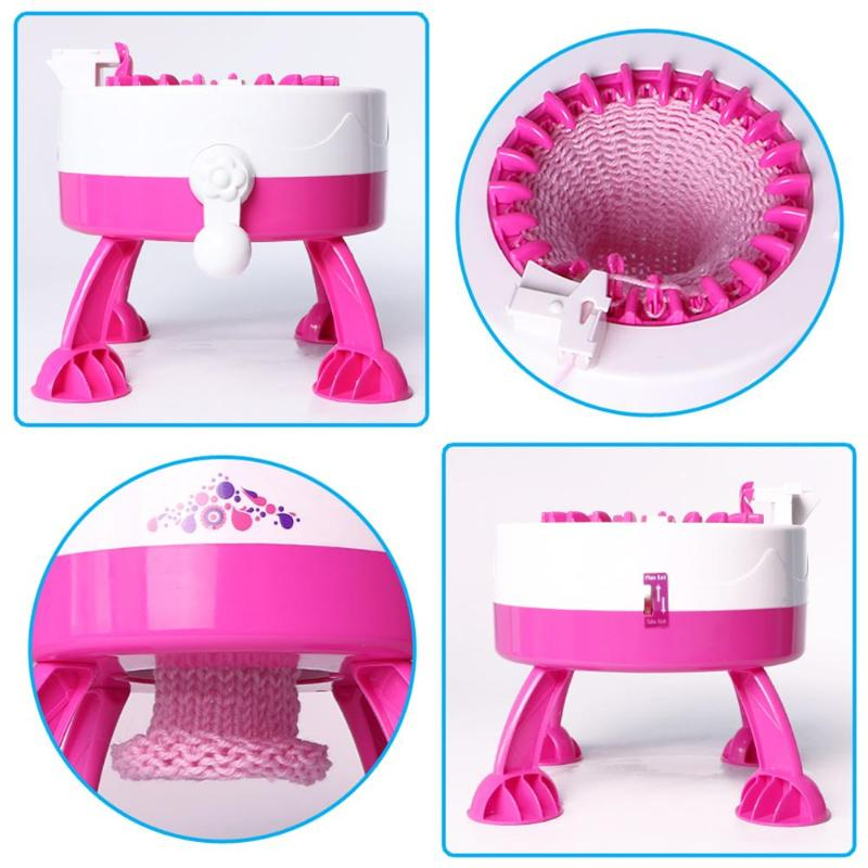 22 Needle Diy Hand Knitting Machine Weaving Loom For Scarf Hat Kids Children Pretend Play Toys Educational Learning Toy Toys & Hobbies Pretend Play