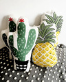 Vivid Green Plant Cactus Fresh Pineapple Cushion Stuffed Decorative Baby Pillows Car Sofa Store Home Decoration Prop Cushion