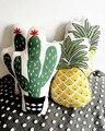 Vivid Verde Cactus Planta Abacaxi Fresco Almofada de Pelúcia Decorativo Travesseiros de Bebê Loja de Decoração Para Casa Sofá Carro Almofada Prop