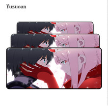 Yuzuoan Darling in the FranXX Anime Mouse Pad pad to Mouse Notbook Computer Mousepad Big Gaming Pad Overlock Edge Mouse Pad
