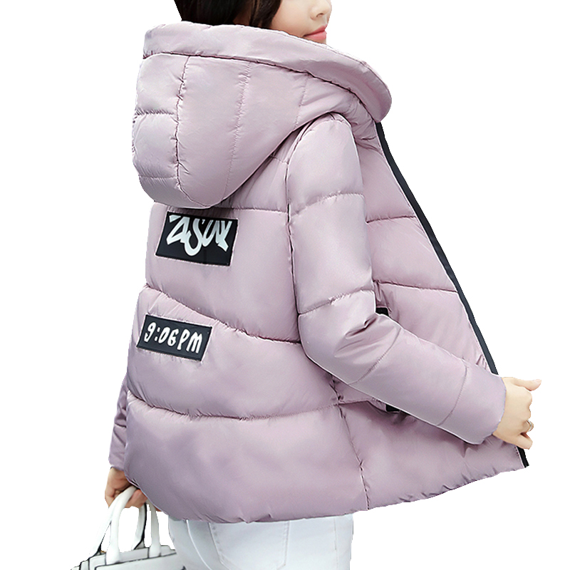 SWENEARO 2017 Women Winter Coats and Jackets Fashion 4 color hooded short paragraph Slim Student Women Thick Warm Cotton Outwear
