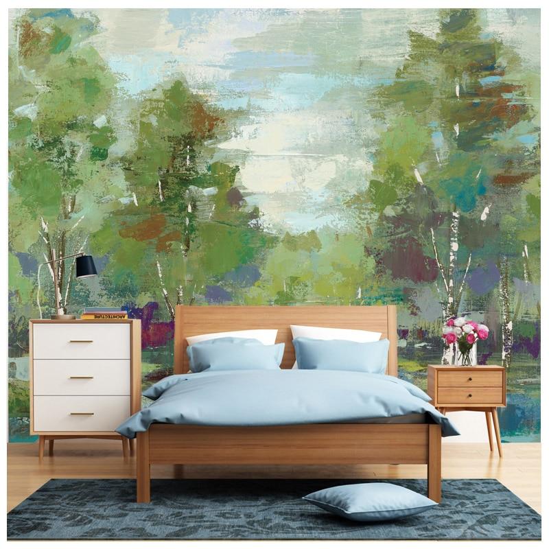 descuento abetos verdes poster arte de la pared del hogar de la vendimia accesorios de decoracin