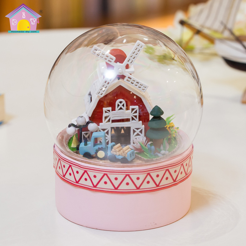 Diy Glass Ball 3d Miniature Assemble Model Mini-sunshine Alis Building Dollhouse Kits With Funitures For Kid/adult Creative Gift Architecture/diy House/mininatures Model Building