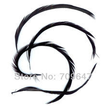 200PCS/LOT 6-8 15-20CM  Stripped BLACK Goose Biots for Fly Tying Hair Extentions FREESHIPPING