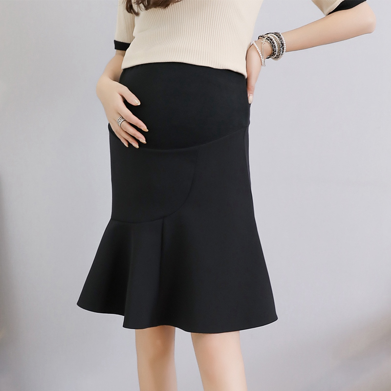 Maternity Dress Skirt Spring And Summer 2019 New Fashion Tide Mother Wear Pregnant Stomach Lift Skirt Pregnancy Pleated Skirt