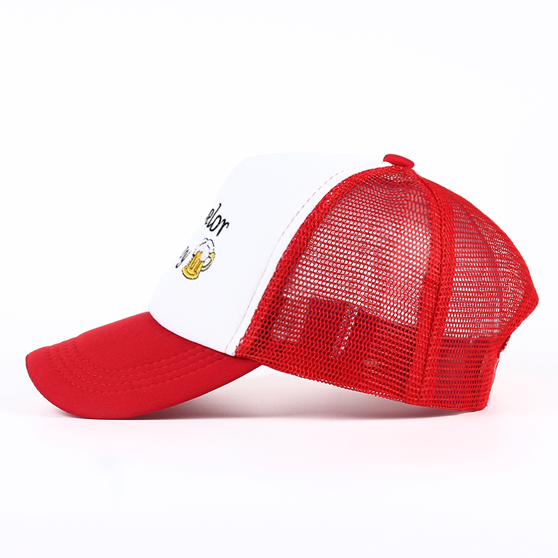ddb70045 TUNICA 2017 Casual Bachelor Boy Beer Snap Back Mesh Netted Trucker Cap Hat  adjustable Parks and Recreation baseball cap-in Baseball Caps from Apparel  ...
