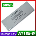10.8V 60Wh Silver laptop Battery for Apple A1185 MA561  5.2 mid-2009 A1181 MA254 MA254*/A