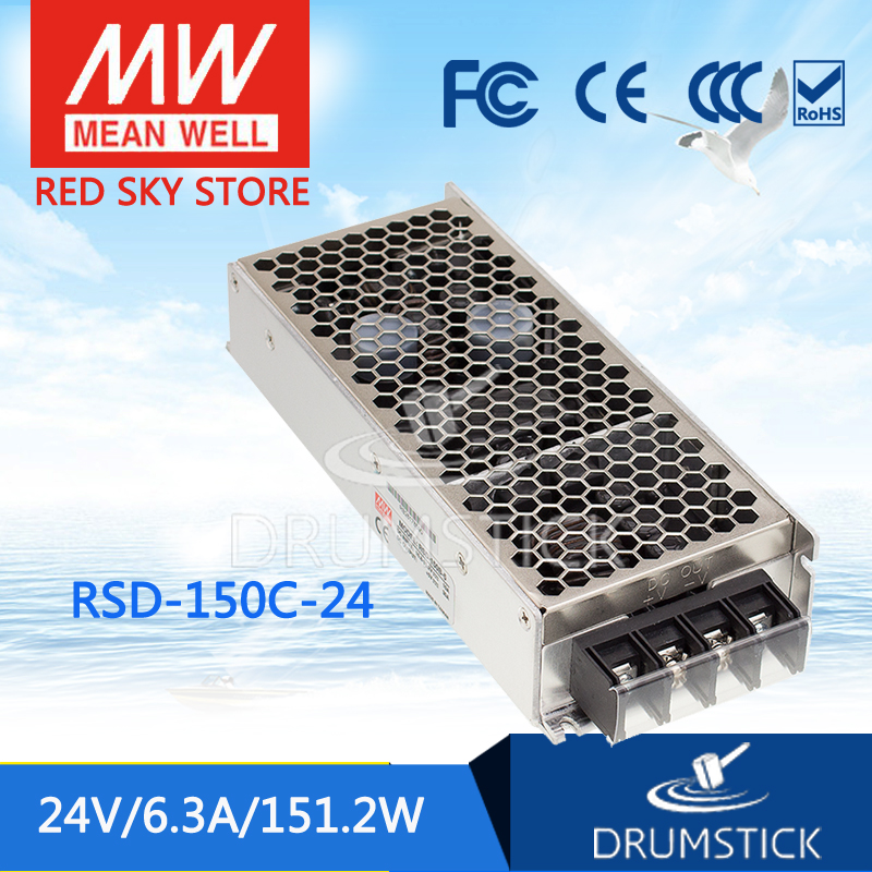 цена на Advantages MEAN WELL RSD-150C-24 24V 6.3A meanwell RSD-150 24V 151.2W Railway Single Output DC-DC Converter [Real4]