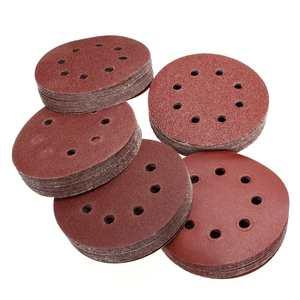 Image 2 - 10Pcs 125mm Grit Round Shape Sanding Discs Buffing Sheet Sandpaper 8 Hole Sander Polishing Pad 80/180/240/320/1000/1500/2000