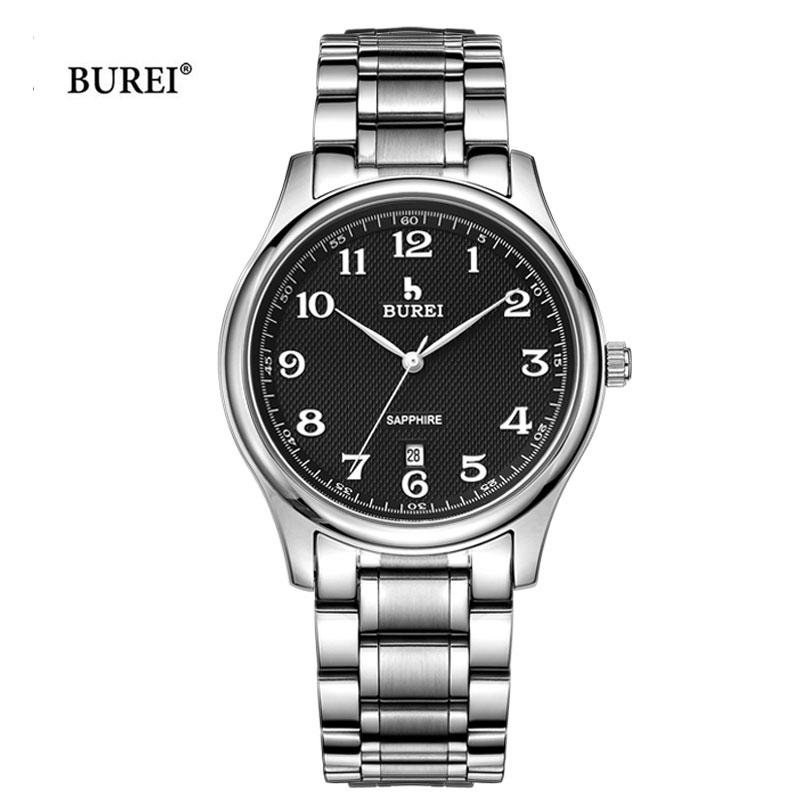 BUREI Top Brand Luxury Mens Watches Man Waterproof Army Military Quartz Wrist Watch Dress Hours Clock Men 2017 Relogio Masculino mens watches top brand luxury business quartz wrist watch man waterproof gold wristwatch clock men hours 2017 relogio masculino