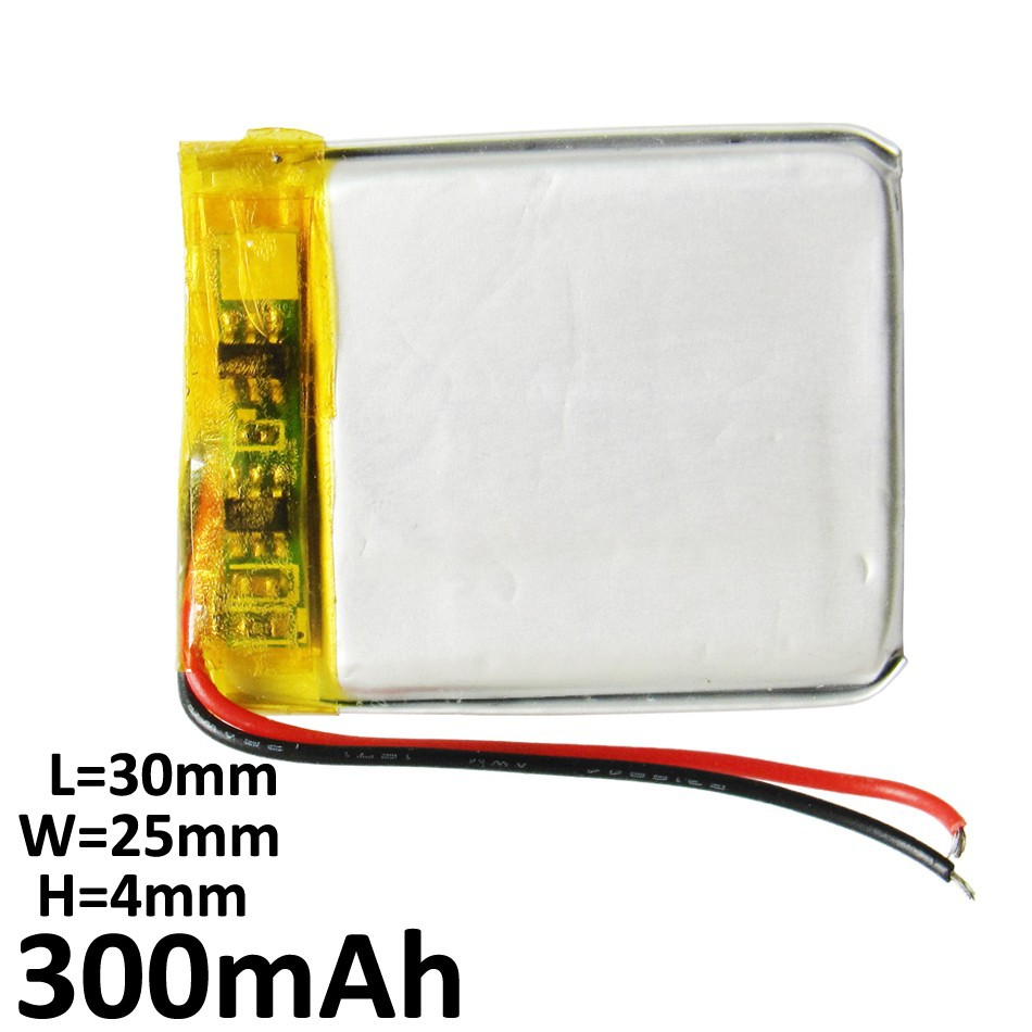 Wholesale 50 pcs 3.7V 300mAh Lithium Polymer LiPo li ion Rechargeable Battery cells For Mp3 MP4 headphone DVD 402530 2