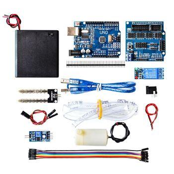 UNO R3 V5.0 Módulo de SENSOR de riego automático DIY kit de detección de humedad del suelo bombeo de agua automático