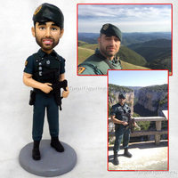 polymer clay dolls gifts for boyfriend girlfriend valentine's day Surprise gift for armyman Gifts for comrades in arms clay doll