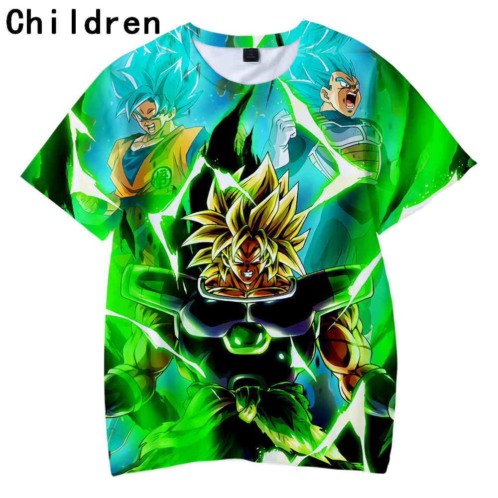 Dragon Ball Super Broly 3D Printed Children   T  -  shirts   Fashion Summer Short Sleeve Tshirts 2019 Harajuku Casual Streetwear   T     shirt