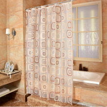 New Bathroom Shower Curtain Deformation Of The Square PEVA Toilet Partition Curtain Waterproof Mouldproof Thickening waterproof mouldproof beach print shower curtain
