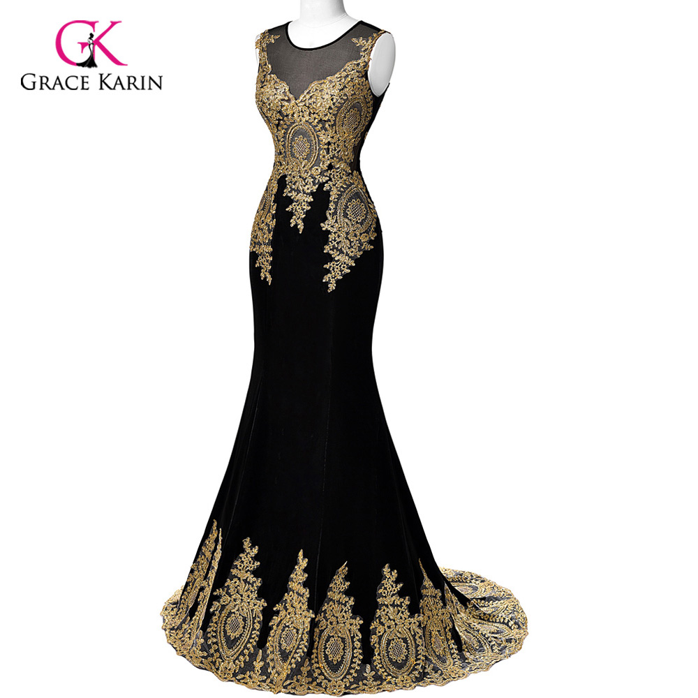 Real Sample 2018 Grace Karin Dubai Arabic Mermaid Evening Dresses ...
