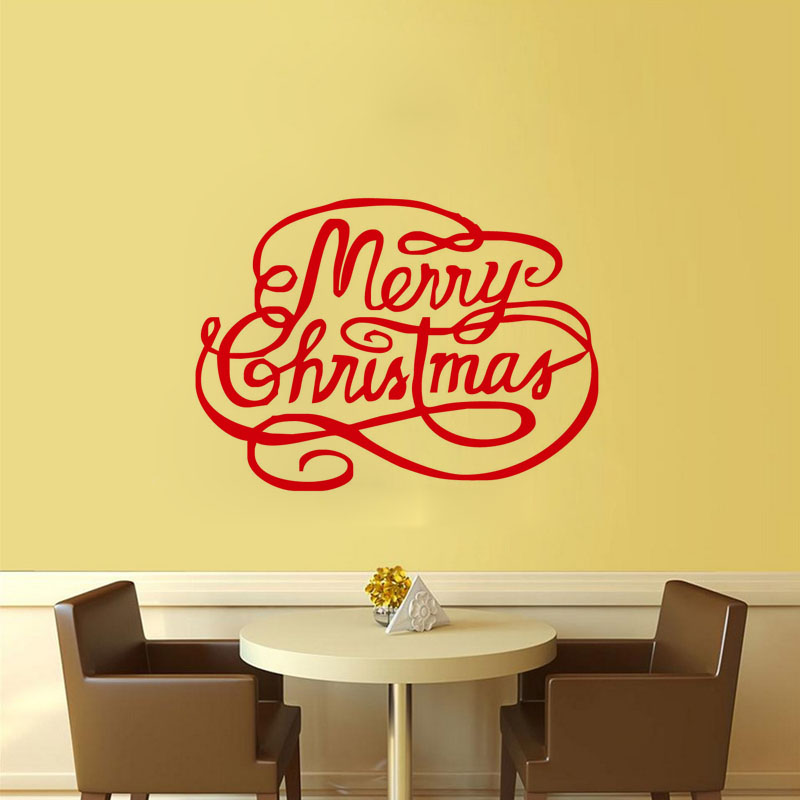 Beautiful Christmas Wall Art Decals Adornment - Wall Art Collections ...