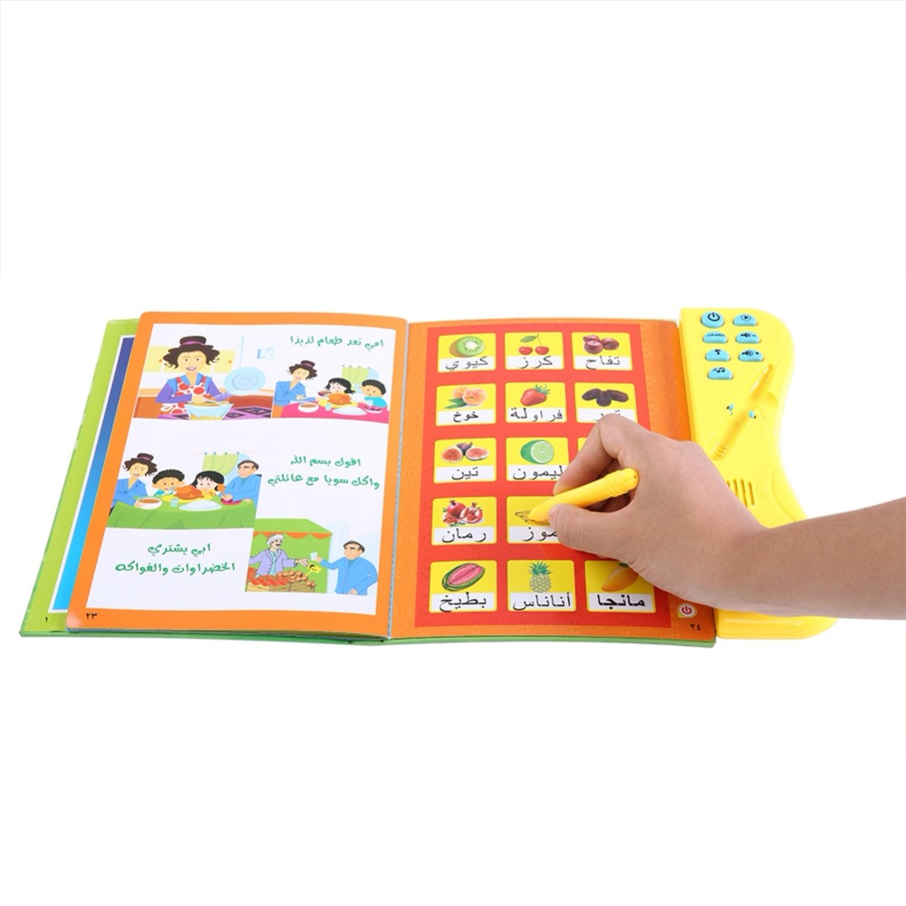 Book-Learning-E-Book Smooth-Book Arabic Language Reading Children Multi-Functionabl