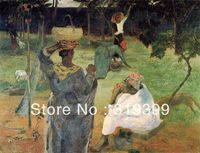 paul gauguin Oil Painting Reproduction on Linen cavas,Fruit Picking, or Mangoes,100% handmade,Fast Ship,Museum Quality