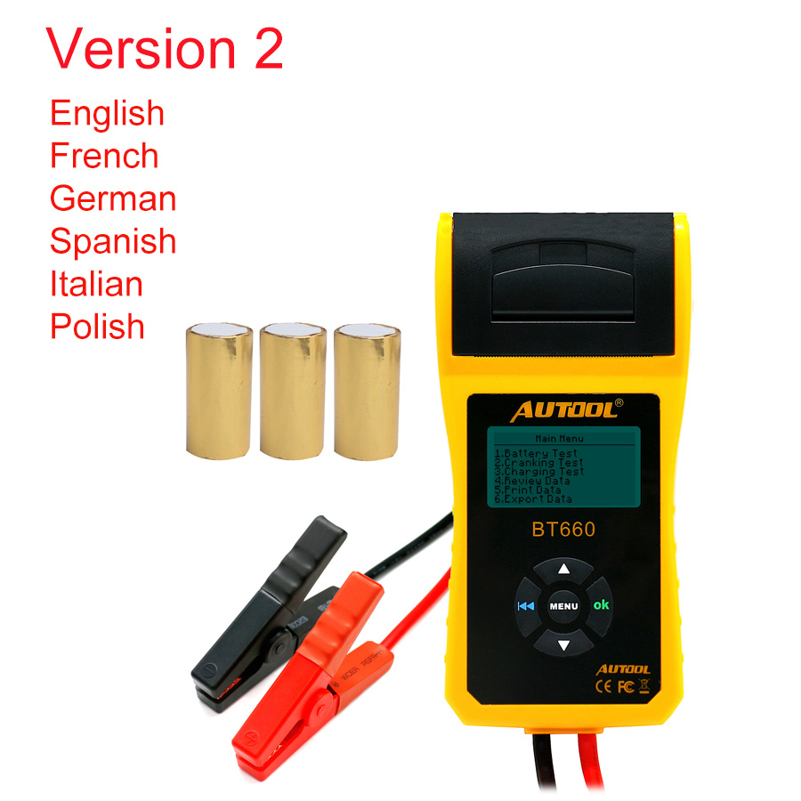 Image 3 - AUTOOL Car Battery Tester Analyzer With Printer 12V Digital Repair Workshop Auto Battery CCA Portable Diagnosis Tool Free Paper-in Battery Measurement Units from Automobiles & Motorcycles on