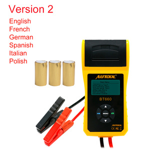 Image 3 - AUTOOL Car Battery Tester Analyzer With Printer 12V Digital Repair Workshop Auto Battery CCA Portable Diagnosis Tool Free Paper